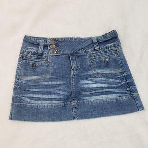 Hydraulic Short Mini Denim Jean Skirt Size 9/10